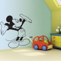 Decor Kafe Mickey Mouse Self Adhesive Wall Decal Large Size-36*39 Inch Wall Sticker Sticker (Pack Of 1)