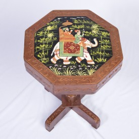 Smile2u Retailers Rajasthani Hand Painting Worked Living & Bedroom Stool