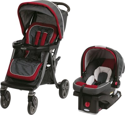 Graco Soho Click Connect Travel System - Presley (Maroon, Black)