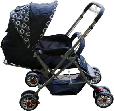 Plus One Pram & Stroller (Multicolor)