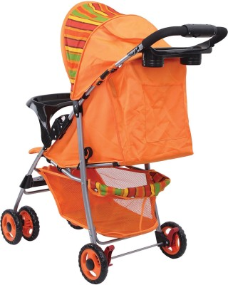 Sunbaby Baby Buggy cum Stroller (Orange)