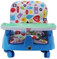 INTRA Kid's Royal Booster Seat And Baby Chair With Height Adjustable And Wheels (Blue)