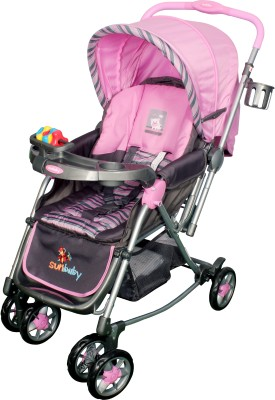 Sunbaby Pink Abi Stroller with Rocking (Pink)