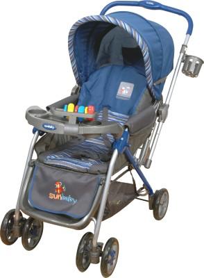 Sunbaby Royale Stripe Stroller (Blue)