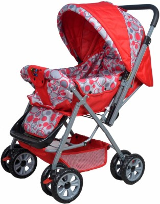 HAPPY KIDS BABY PRAM (Red)
