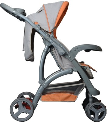 Luvlap Sports Baby Stroller (Grey, Orange)