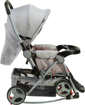 Luvlap 2 in 1 Baby stroller with Rocker (Grey)