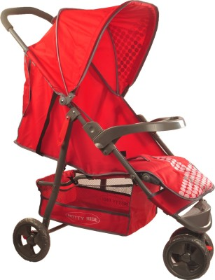 Notty Ride Three Wheel Light Weight Baby Stroller (Red) (Red)