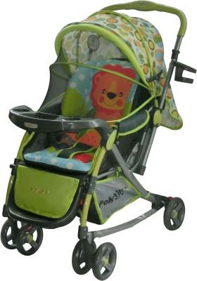 Pollyspet Baby Stroller Deluxe Lion Printed (Green)