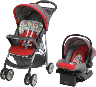 Graco LiteRider Click Connect Travel System - Typo (Multicolor)