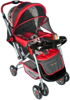 Pollyspet Reverse Handle Stroller (Red)