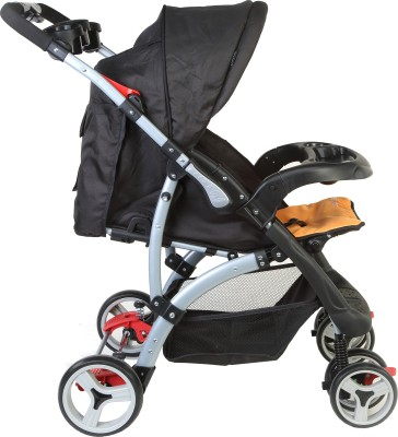 Luvlap Sports - Baby Stroller (Black, Orange)