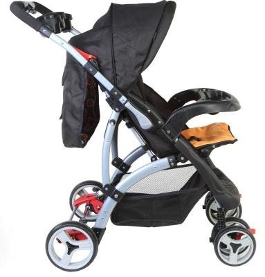 Luvlap Sports - Baby Stroller (Black, Orange)