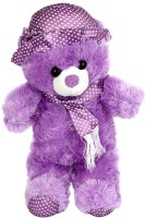Nb Phoenix Cute Purple Teddy Bear With Cap  - 43 Cm (Purple)