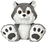"Aurora World Soft Toys Aurora World Taddle Toes Howler Husky Plush10"""