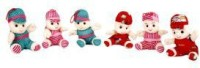 Lehar Toys Set Of Six Doll  - 15 Cm (Multicolor)