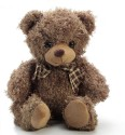 Aapno Rajasthan Plush Sugar Small Valentine Teddy Bear with ribbon  - 10 inch - Brown