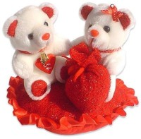 Tokenz Lovely Way : Teddy Bears  - 8 Inch (Red, White)