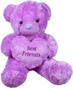 Prince Soft Heart Teddy - 21 Inch - Purple