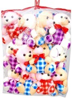 DEMKAS Cute Teddy Bear Set Of 12  - 10 Cm (Pink, Orange, White)