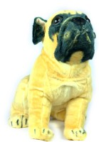 Tiny Tickle Cute Pug Dog Premium Soft Toys For Kids  - 20 Cm (Begie)