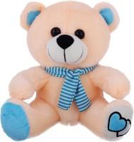 Tabby Toys Cute Teddy Bear  - 30 Cm (Peach, Blue)