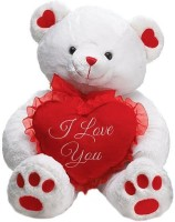 Grabadeal Sitting I Love You Heart Teddy Bear - 18 Inch (White)