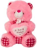 Tiny Tickle Cute Pink Teddy Bear With Wishes Soft Toy For Kids  - 35 (Pink)