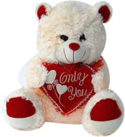 Tokenz Cuddling Love Teddy Bears  - 14 Inch (Beige)