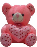 Taringo24h Heart & Bow Dark Pink Teddy Bear  - 15 Inch (Pink)