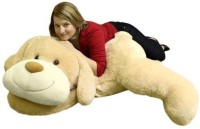 BigPlush Giant Stuffed Puppy Dog 5 Feet Long Squishy Soft Extremely Large Plush Animal Cream Color  - 24 Inch (Multicolor)