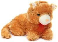 Deals India Stuffed Soft Plush Cute Cat  - 30 Cm (Brown)