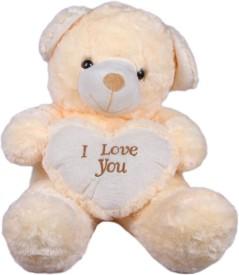 Joy Teddy Bear - 17 Inch (White)