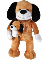 Soft Buddies Dog With Baby  - 13 Inch (Brown)