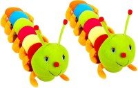 Ewi Soft Toys Stuffed Caterpiller Set Of 2  - 55 Cm (Multicolor)