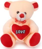 Ktkashish Toys Kashish Soft Love Teddy 35cm  - 15 Inch (Cream, Red)