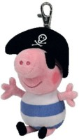 Ty Beanie Babies Pirate George Peppa Pig Clip (Uk Exclusive) (Pink)