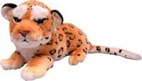 U Smile Soft Brown Leopard (L) 45 Cm  - 45 Cm (Red, Black)