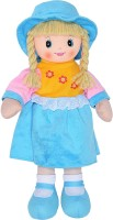 Dimpy Stuff Soft Doll With Cap And Skirt - 19.68 Inch (Blue)