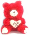 Porcupine 12 Inches Teddy Bear  - 12 Inch - Red