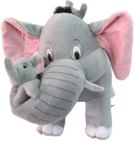 Deals India Deals India Mother Elephant With 2 Babies Soft Toy - 38 Cm  - 10 Cm (Multicolor)