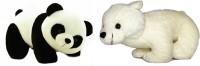 Cuddles Cute Looking Polar Bear And Panda Cubs Combo  - 45 Cm (Multicolor)