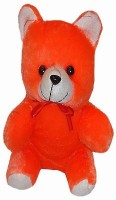 Shree Krishna Teddy Bear  - 9 Inch (Orange, White)