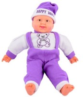 Deals India Musical Happy Baby Boy Laughing  - 16 Inch (Purple)