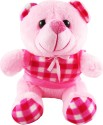 Tabby Little Pink Dress Teddy Bear  - 8 Inch - Pink
