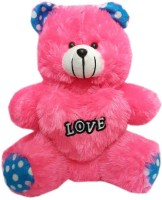 Lotus PInk Teddy Bear  - 16 Inch (Pink)