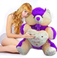 Ktkashish Toys Kashish Sweet Purple Teddy Bear 22 Inch  - 22 Inch (purple)
