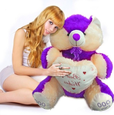 Ktkashish Toys Kashish Sweet Purple Teddy Bear 22 Inch  - 22 Inch (purple)