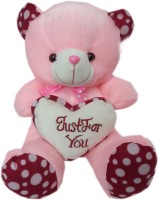 Lotus Heart Teddy Bear  - 14 Inch (Pink)