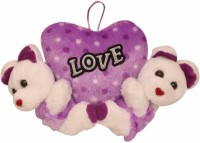 Lehar Toys Purple Teddy  - 16 Cm (Purple)